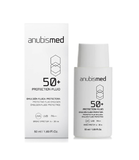 AnubisMed SPF 50+ Protection Fluid with Very High Protection (PA++++) and with Broad Spectrum, (50ml)